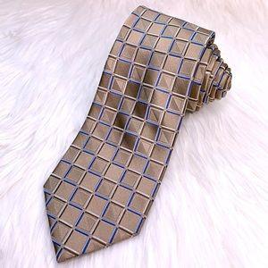 Michael Michael Kors 100% Silk Check Tie NWOT